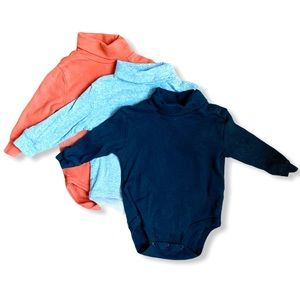 Leveret Baby | Set of Turtleneck Bodysuits (12 m)